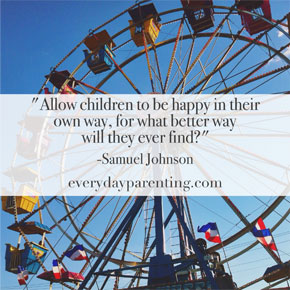 allow children to be happy in their own way