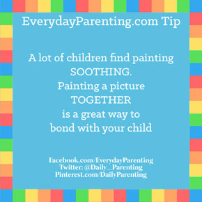a lot of children find painting soothing,