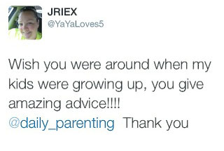 wish you were around when my kids were growing up, you give amazing advice